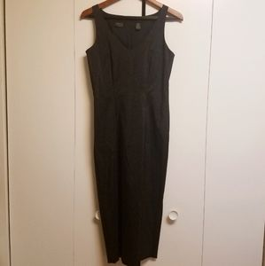 Dana Buchman Black Glitter Fitted Sleeveless Dress